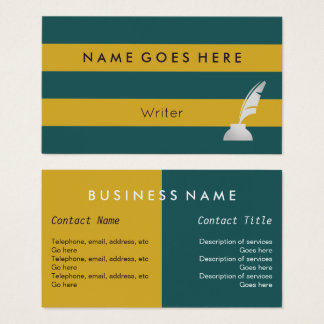 """Flags"" Writer Business Cards"
