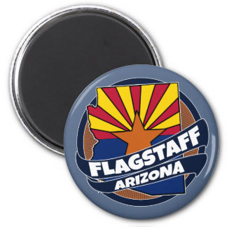 Flagstaff Arizona flag burst magnet