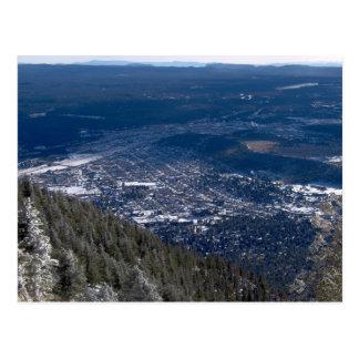 Flagstaff As Viewed From Atop Mount Elden, After A Postcard