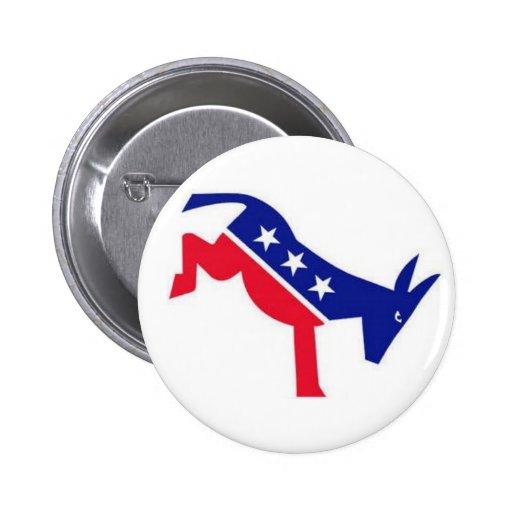 Flair Pin : Democrat Donkey