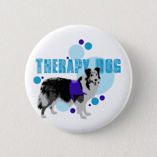 Flair- Therapy Dog 2 2 Inch Round Button