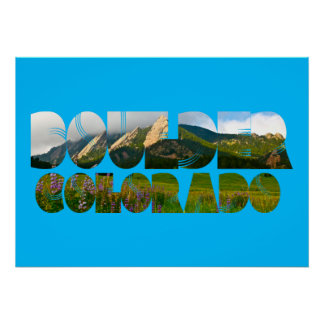Flairons, Boulder Colorado Poster