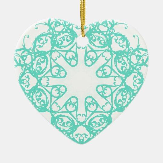 flake ceramic ornament