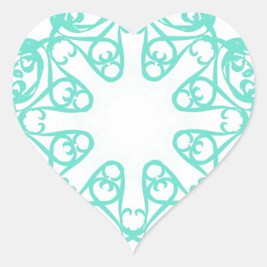 flake heart sticker