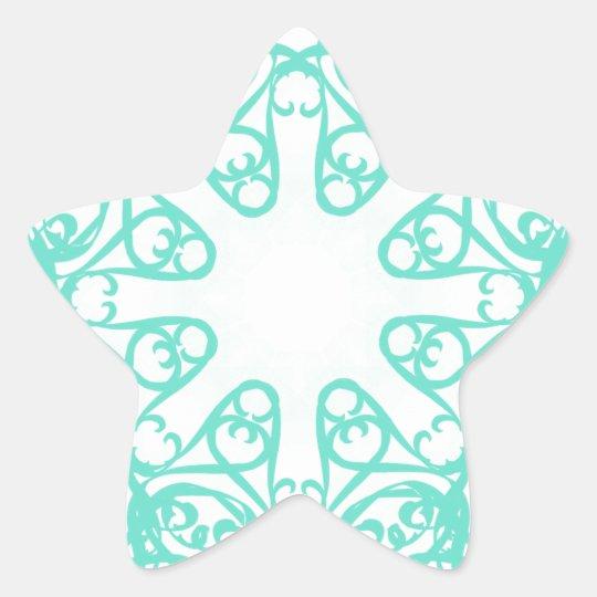 flake star sticker