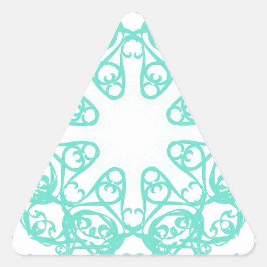 flake triangle sticker