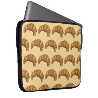 Flaky Buttery Croissant French Pastry Foodie Laptop Sleeve