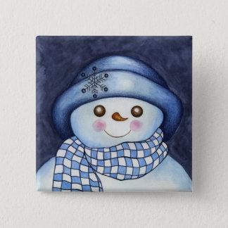 Flaky Snowman Button