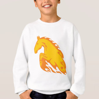 Flamboyant Fired Flame Horse Sweatshirt