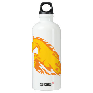 Flamboyant Fired Flame Horse Water Bottle