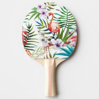 Flamboyant Flamingo Tropical nature garden pattern Ping-Pong Paddle
