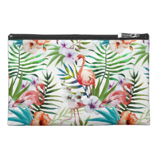 Flamboyant Flamingo Tropical nature garden pattern Travel Accessories Bags