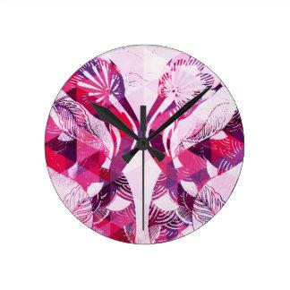 Flamboyant Flamingos Wall Clocks