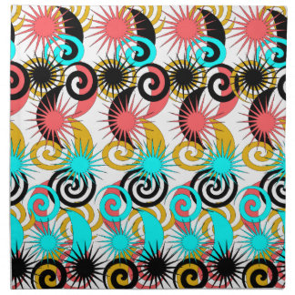 Flamboyant Retro Starburst Galaxy Party Napkins