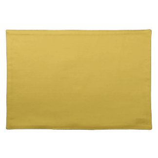 Flamboyantly Fortunate Gold Color Placemat