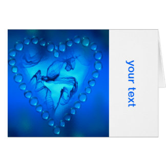 flame art heart greeting cards