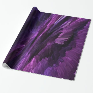 flame art purple, wrapping paper