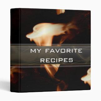 Flame Collage Recipe Book 3 Ring Binder