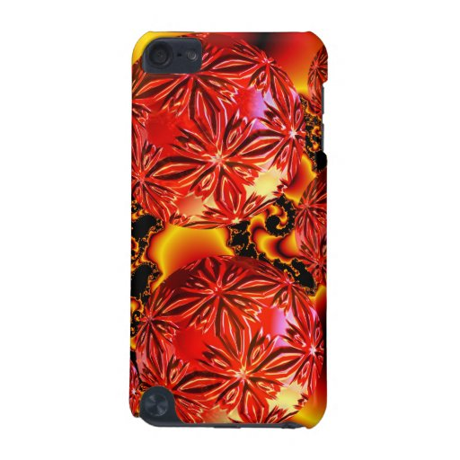 Flame Delights, Abstract Crimson Red Fire iPod Touch 5G Case