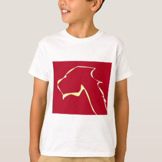 Flame dog art red T-Shirt