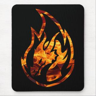 Flame dragon 1 mouse pad