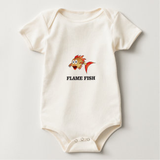flame fish baby bodysuit