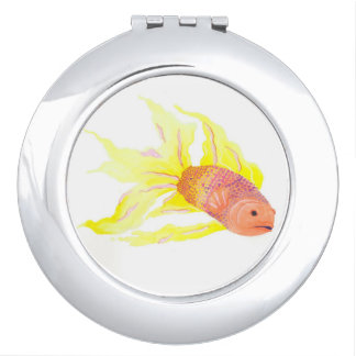 Flame Fish Makeup Mirror