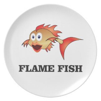 flame fish party plate