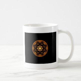 Flame Flower Star Ship Wheel Kaleidoscope Coffee Mug