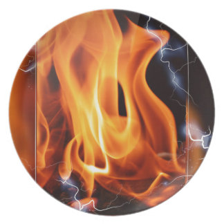 Flame-focus Party Plates