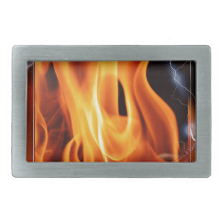 Flame-focus Rectangular Belt Buckle