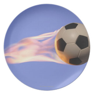 Flame Football Plates