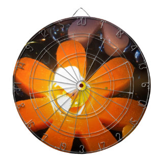 Flame from an orange floating candle dartboards