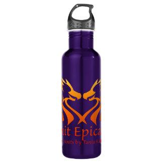 Flame Gradient Epic Knits Waterbottle 710 Ml Water Bottle
