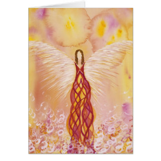 Flame Guardian Angel Card