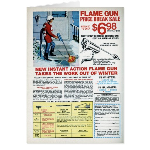 Flame Gun for Winter Greeting Card