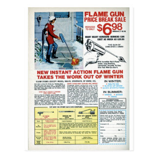 Flame Gun for Winter Postcard