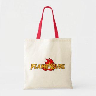 Flame Gurl Logo Budget Tote Bag