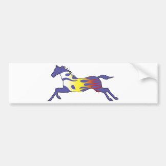 Flame Horse Bumper Sticker