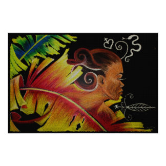 Flame IV Mosaic II Canvas Poster