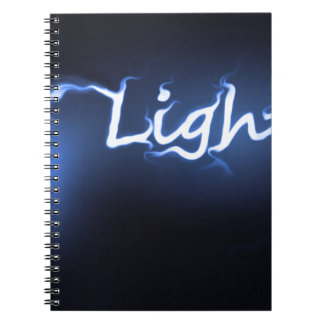 Flame light concept. note book