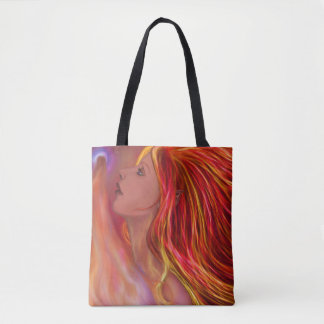 Flame Maiden Tote Bag