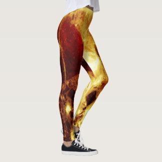 Flame marble leggings