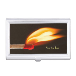 Flame of Fire Business Card Holder
