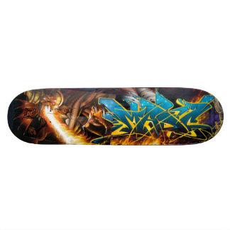 Flame On! in Durin's Dungeon - Street Art Sk8 Deck Custom Skateboard