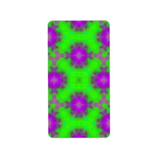 flame pattern green purple