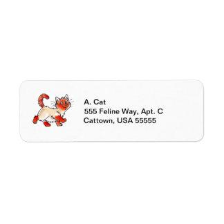 Flame-Point Kitty Return Address Label
