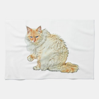 Flame point siamese cat 2 kitchen towel