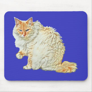 Flame point siamese cat 2 mouse pad