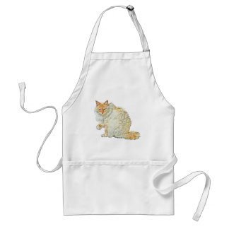Flame point siamese cat 2 standard apron